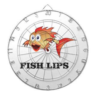 fish lips dartboard