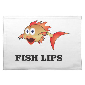 fish lips placemat