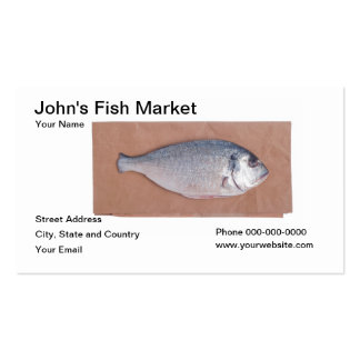 Fish Market Business Card Business Card