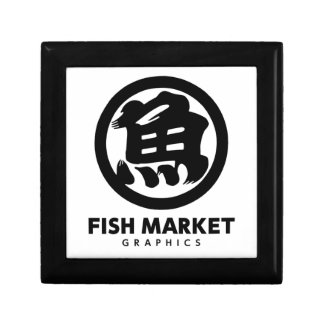 FISH MARKET GRAPHICS LOGO KEEPSAKE BOXES