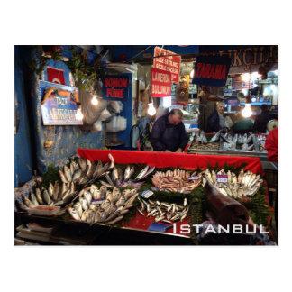 Fish Market - Istanbul Postcard