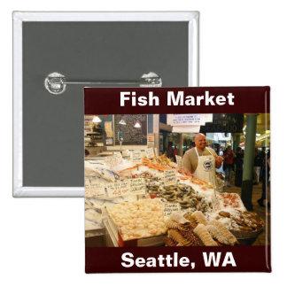 Fish Market Seattle WA Pin