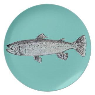 Fish Melamine Plate