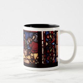 Fish merchants, detail from a window Two-Tone coffee mug
