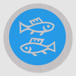 FISH MERMAID FISHING FISHERMAN unique return gifts Classic Round Sticker