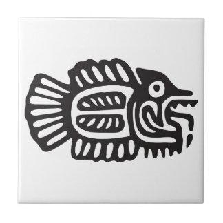 Fish, Mexican hieroglyph(Maya) Tile