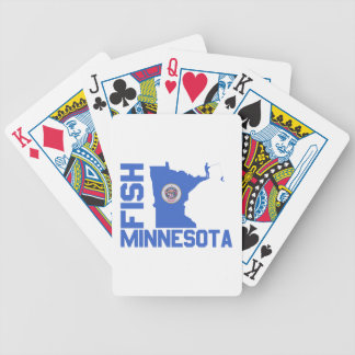 Fish Minnesota Bicycle Playing Cards