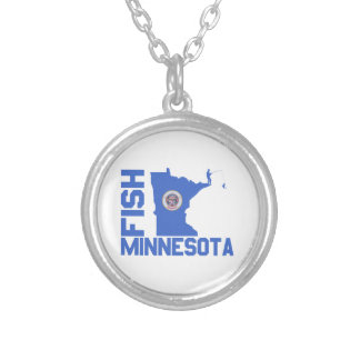 Fish Minnesota Silver Plated Necklace