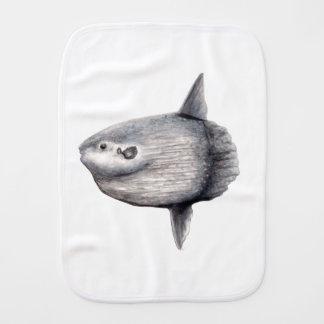 Fish moon burp cloth