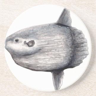 Fish moon coaster