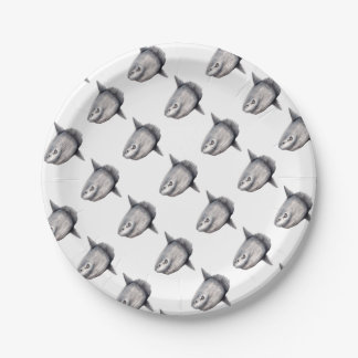 Fish moon paper plate