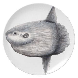 Fish moon plate