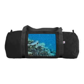 Fish moving over the reef gym bag
