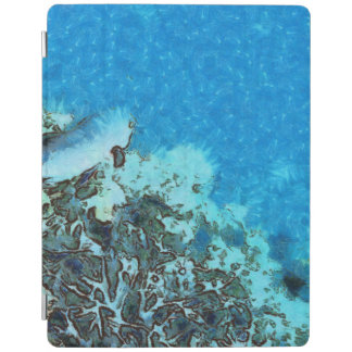 Fish moving over the reef iPad cover