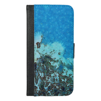 Fish moving over the reef iPhone 6/6s plus wallet case