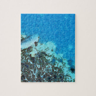 Fish moving over the reef jigsaw puzzle