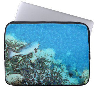 Fish moving over the reef laptop sleeve