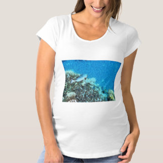 Fish moving over the reef maternity T-Shirt