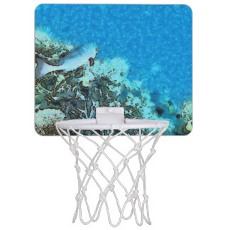 Fish moving over the reef mini basketball hoop