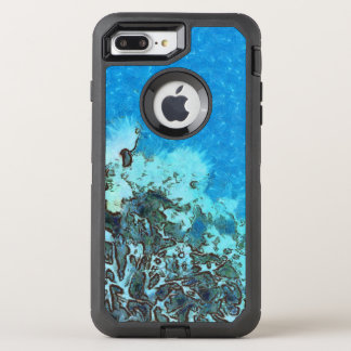 Fish moving over the reef OtterBox defender iPhone 8 plus/7 plus case