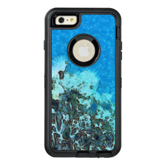 Fish moving over the reef OtterBox defender iPhone case