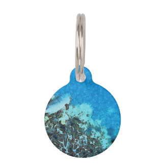 Fish moving over the reef pet name tag