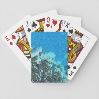 Fish moving over the reef playing cards