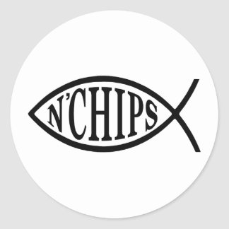 Fish N' Chips Fish Round Sticker