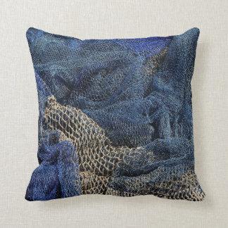 Fish Netting Beach Throw Pillow