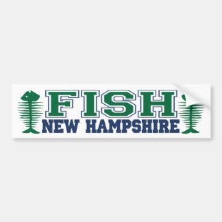 Fish New Hampshire Bumper Sticker