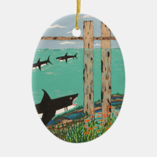 Fish Not Biting Today. Ceramic Oval Ornament