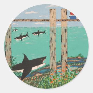 Fish Not Biting Today. Classic Round Sticker