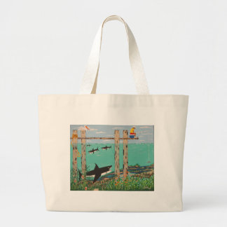Fish Not Biting Today. Large Tote Bag