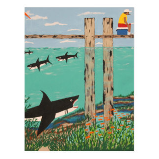 Fish Not Biting Today. Postcard