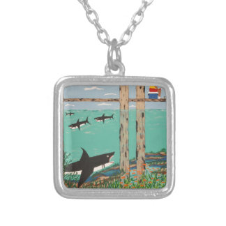 Fish Not Biting Today. Silver Plated Necklace