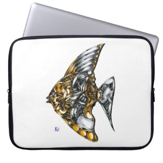 "Fish of opus number 20151028000c ""machine"" laptop sleeve"
