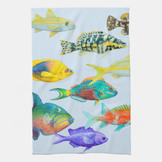 Fish of the Atlantic Kitchen Towel
