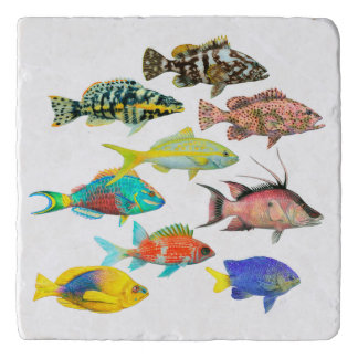 Fish of the Atlantic Trivet