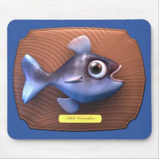 Fish on Cutting Board Mouse Pad