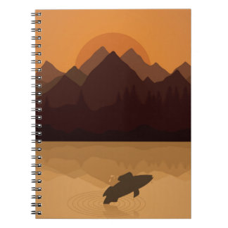 Fish on lake note books