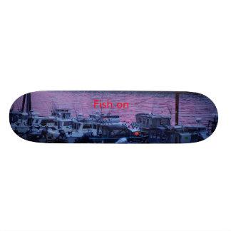 Fish on skateboard