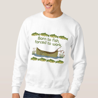 Fish or Work Embroidered Sweatshirt