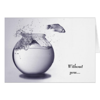 Fish out of water greeting card
