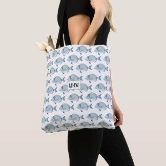 Fish Pattern custom monogram bags