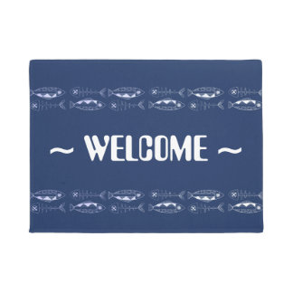 Fish pattern, various colours Door Mat