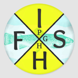 Fish PGH Classic Round Sticker