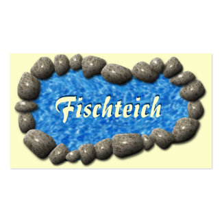 Fish pond business card
