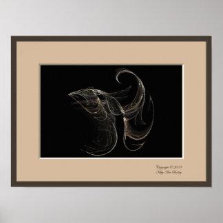 Fish Profile Fractal Poster