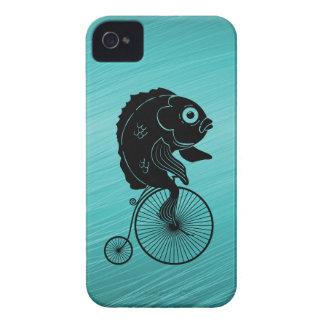 Fish Riding a Bike Case-Mate iPhone 4 Case