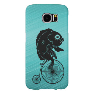 Fish Riding a Bike Samsung Galaxy S6 Cases